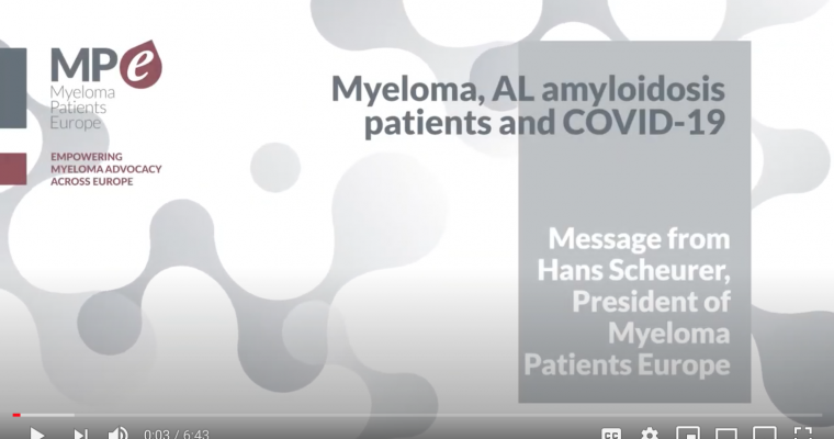 Myeloma Patients Europe, Hans Scheurer on COVID-19
